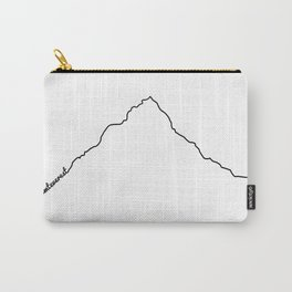 Mt Everest Art Print / White Background Black Line Minimalist Mountain Sketch Carry-All Pouch
