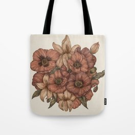 Poppies and Lilies Tote Bag