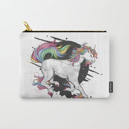 Uncorn Full Color Rainbow Crack Carry-All Pouch
