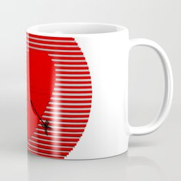 Abstract composition of a heart-shaped target. Coffee Mug