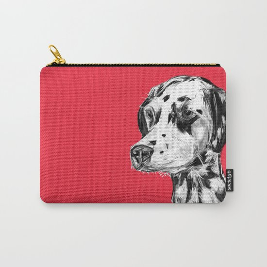 Dalmatian Red  Carry-All Pouch