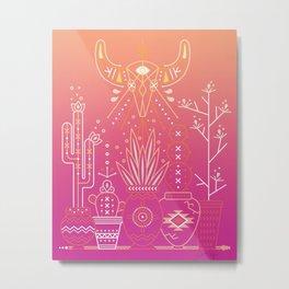 Santa Fe Garden – Pink Sunset Metal Print