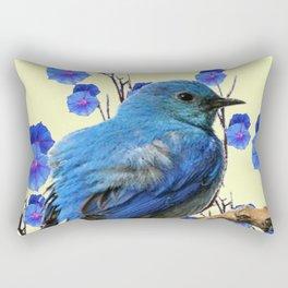 BLUE BIRD & BLUE MORNING GLORIES ART FROM  SOCIETY6 BY SHARLESART. Rectangular Pillow