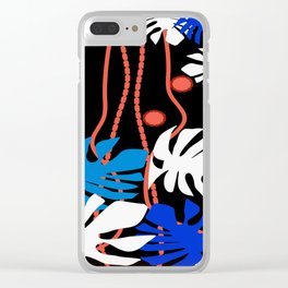 Jungle Night Fever Clear iPhone Case