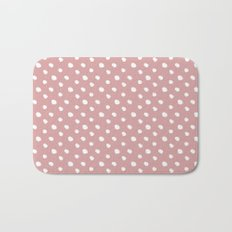 Mauve polka dots pattern - classy college student collection Bath Mat