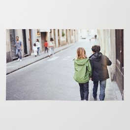 Kid Couple - Florence, Italy Rug