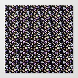 Star vs the Forces of Evil Pattern ( black ) Canvas Print