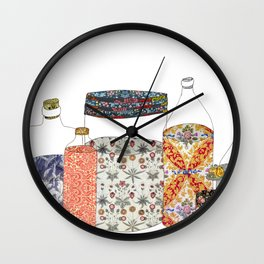 bottled happiness Wall Clock