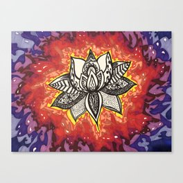 Rebirth Lotus Canvas Print
