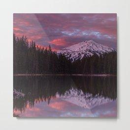 Mt. Bachelor sunrise reflection Metal Print