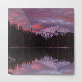 Mt. Bachelor sunrise reflection Metal Print