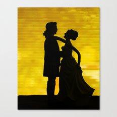 Dancing Silhouette Canvas Print