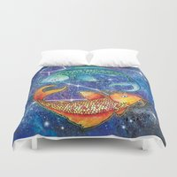 pisces Duvet Covers featuring Pisces  by Georgia Roberts