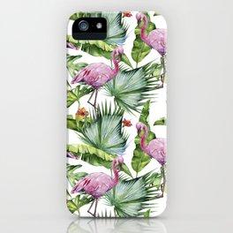 Flamingo Jungle #society6 #buyart iPhone Case