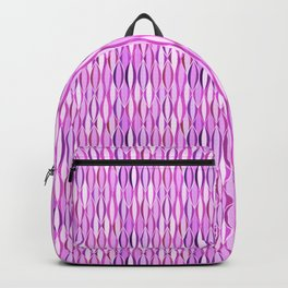 Mid-Century Ribbon Print, Orchid Purple and Violet Backpack