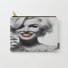 """""""Keep smiling, because life is a beautiful thing and there's so much to smile about."""" Carry-All Pouch"""