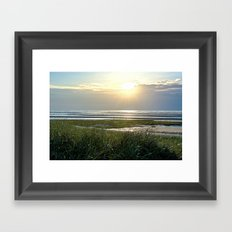 Beach Sunset Framed Art Print