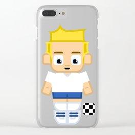 Football Soccer England Clear iPhone Case