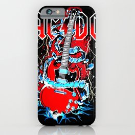 ACDC Guitar iPhone Case