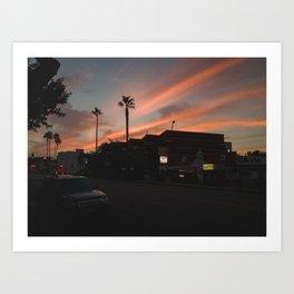 Olive Sunset Art Print