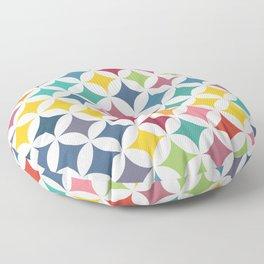 Geometric Star Pattern - Parrot #290 Floor Pillow