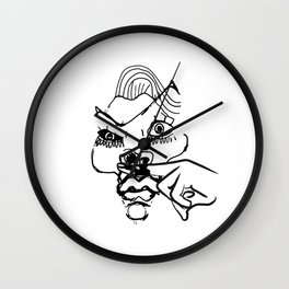 This woman is a joke Wall Clock