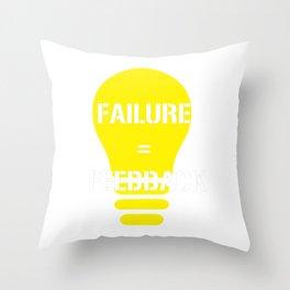 Funny Feedback Tshirt Designs Failure Feedback Throw Pillow