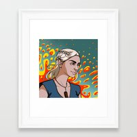 targaryen Framed Art Prints featuring Daenerys Targaryen by Paucibet