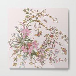Spring Florals Lavender Metal Print
