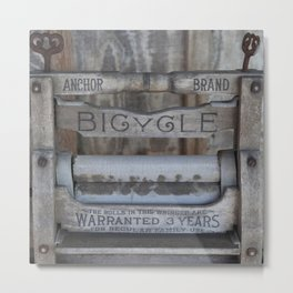 Antique Washer Metal Print