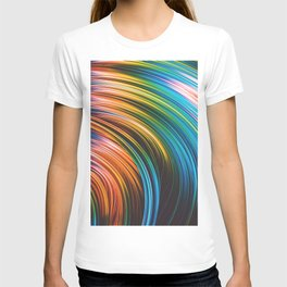 Stranded Strain III.2 Colorful Abstract Strands T-shirt