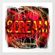 Scream Art Print