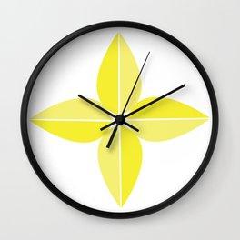 Keltainen kukka Wall Clock