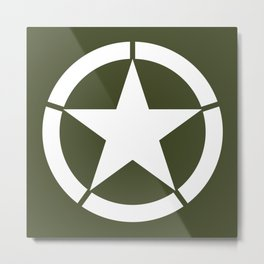 US Army Star Metal Print
