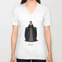 valar morghulis V-neck T-shirts featuring Este by wolfanita