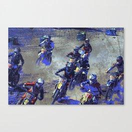 Lets Race!  - Motocross Racers Canvas Print