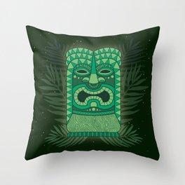Tiki Mean Throw Pillow