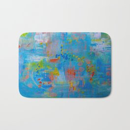Colorful Abstract Wall Art, Vibrant colors, Contemporary home decor Bath Mat