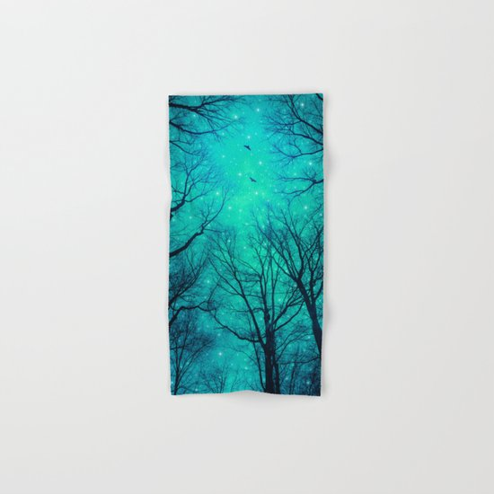 A Certain Darkness Is Needed II (Night Trees Silhouette) Hand & Bath Towel