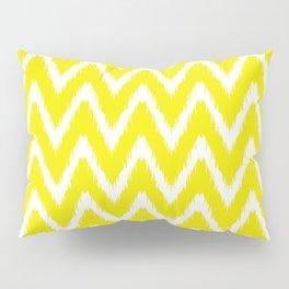 Golden Yellow Asian Moods Ikat Chevrons Pillow Sham