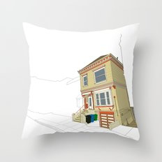 Mike's House Throw Pillow