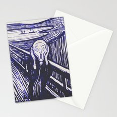 The Scream's Haze (dark blue) Stationery Cards