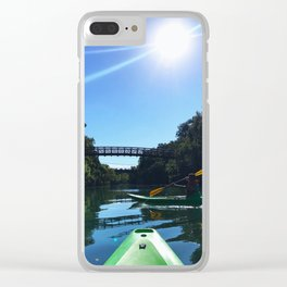 Kayaking in Austin Clear iPhone Case