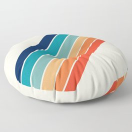 Karanda - 70s Style Classic Retro Stripes Floor Pillow