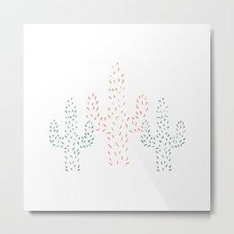 Watercolor Cactus Metal Print