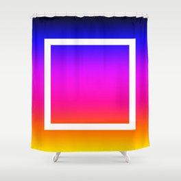 White Box Shower Curtain