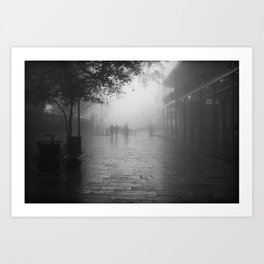 New Orleans on a foggy day Art Print