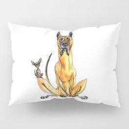 Great Dane and Chihuahua Pillow Sham