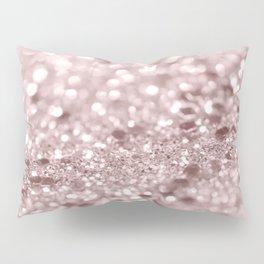 Sparkling Rose Gold Blush Glitter #1 #shiny #decor #art #society6 Pillow Sham