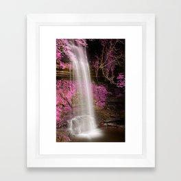 Pink Glencar Falls Framed Art Print